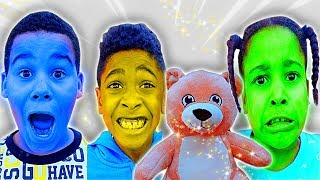 Teddy Bear Changes Our Face Colors | FamousTubeKIDS