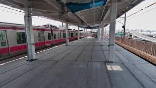 【JR舞浜駅ホーム延伸工事★東京ディズニーリゾート最寄り駅】JR東日本 京葉線 July 11,2021