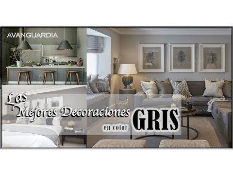 Como decorar con el color gris ideas decoraci n de salas - Colores para combinar con gris ...