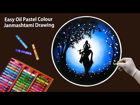 Janmashtami Drawing with Oil Pastel step by step || Janmashtami Special Drawing