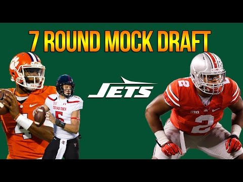 7 ROUND NEW YORK JETS MOCK DRAFT | Do The Jets Take a QB? | OFFSEASON GRADES!