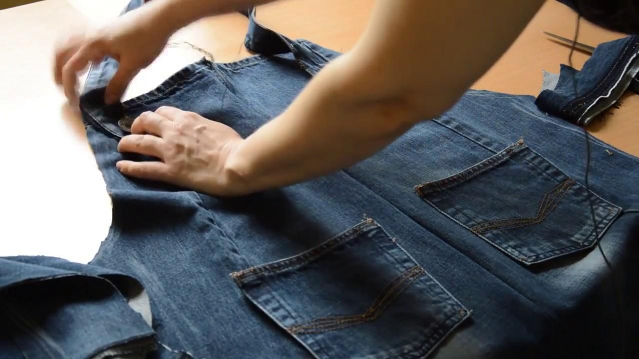 Как сшить из рубашки фартук