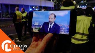 Gilets jaunes : Manifestation devant France 2 contre Édouard Philippe (18 novembre 2018, Paris) [4K]