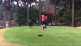 2017三井住友VISA太平洋マスターズのプロアマ戦に HKT48の山本茉央が初...