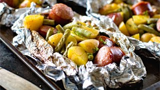 How To Make Vegetable And Sausage Foil Packets