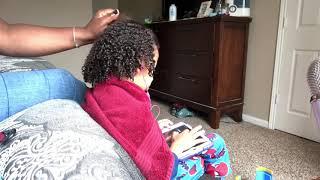 ASMR My Mom Brushing My Brother's Curly Hair ASMR Hair Brushing Satisfying Relaxing Triggers 4 Sleep