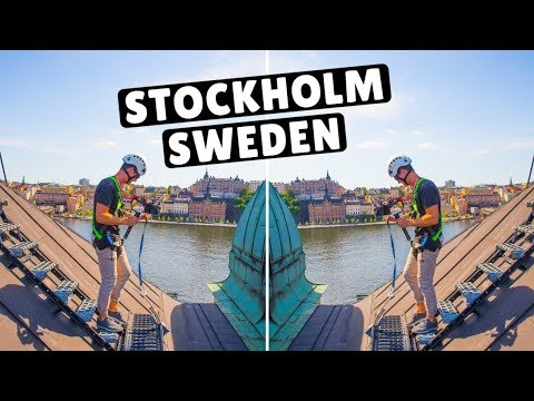The BEST Way to See Stockholm Sweden - ROOFTOPPING!