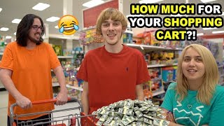 BUYING PEOPLE'S SHOPPING CARTS FROM THEM!!