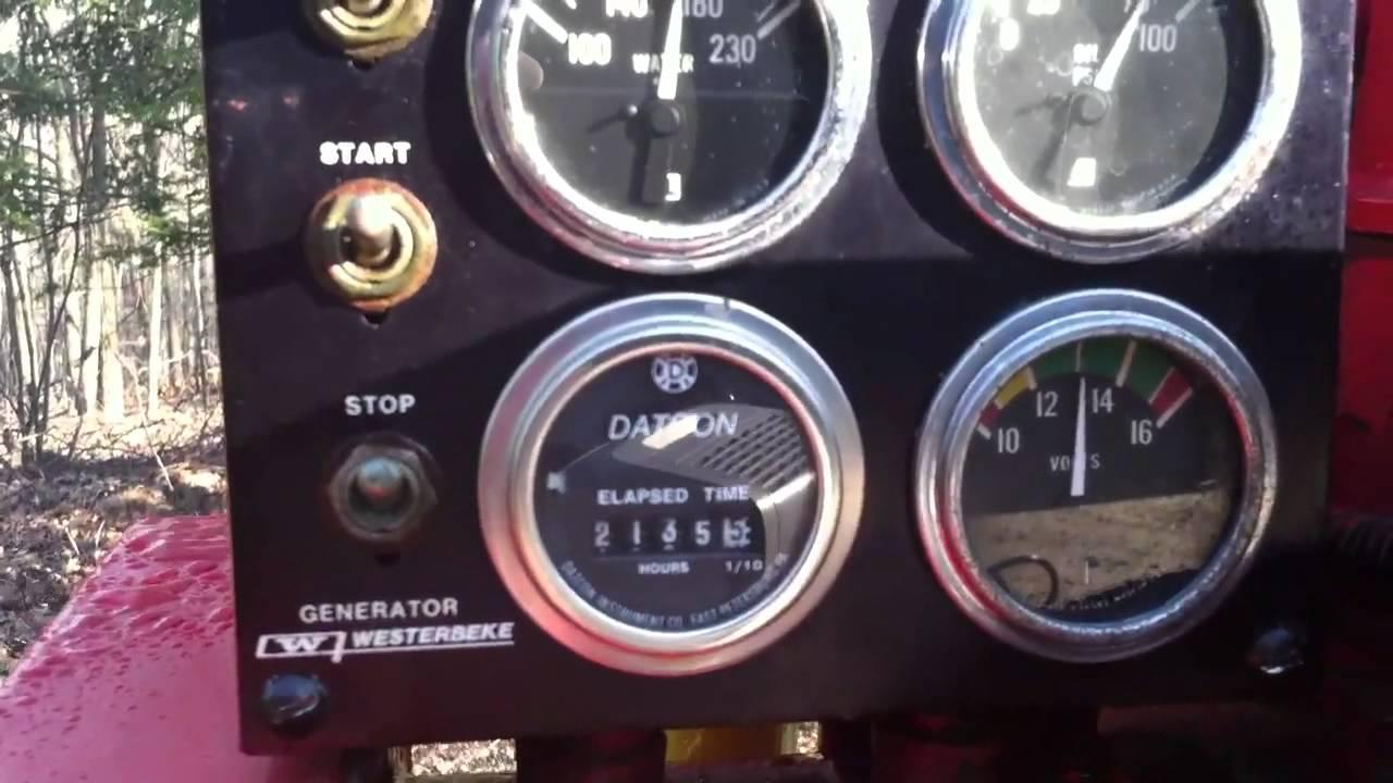 Westerbeke Wiring Diagram Schematic Diagrams Tachometer Trusted 63c Diesel Generator Youtube