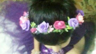floral head crown / handmade head crown / head crown / floral crown / head band / head tiara