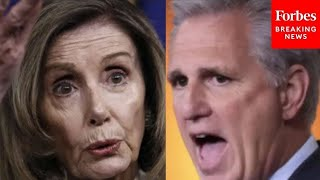 McCarthy SHREDS Pelosi on House floor