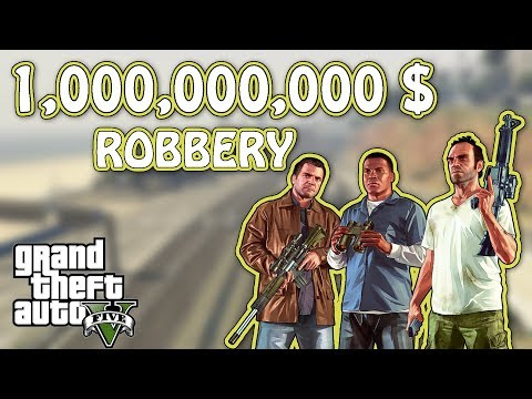 Robbing 4 tons of GOLD - Grand Theft Auto V - The Big Score Heist Gameplay
