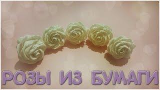 Роза из гофрированной бумаги своими руками. Мастер класс(В этом мастер классе я покажу простой способ создания бутона розочки. Такие розочки получаются очень краси..., 2016-05-02T09:56:05.000Z)