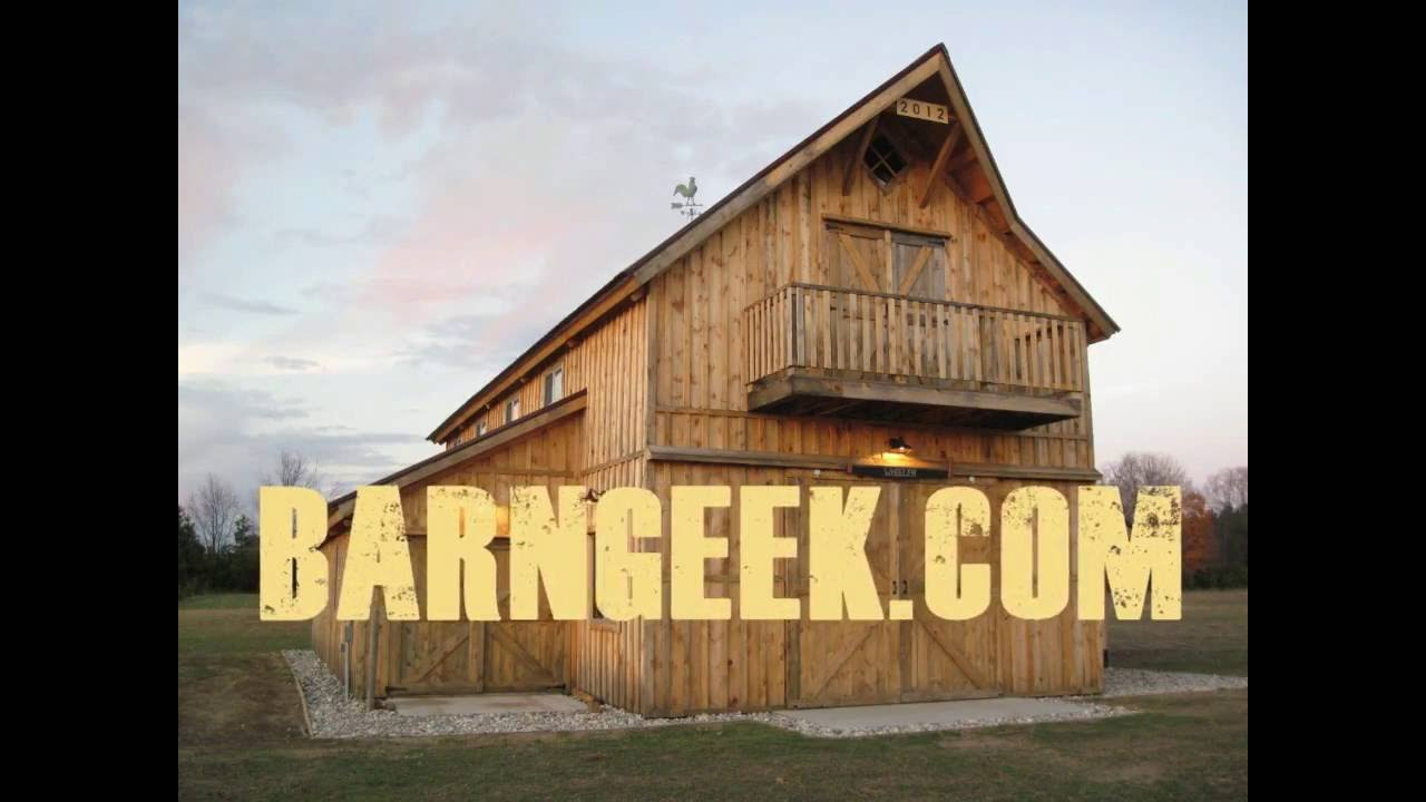 How to build a post and beam barn setting rafters youtube for Post and beam barn plans
