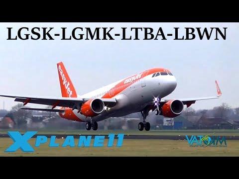 X-Plane 11 | IT HAS FINALLY ARRIVED!! | LGSK-LGMK-LTBA-LBWN | FFA320 | VATSIM | World Tour Ep.1