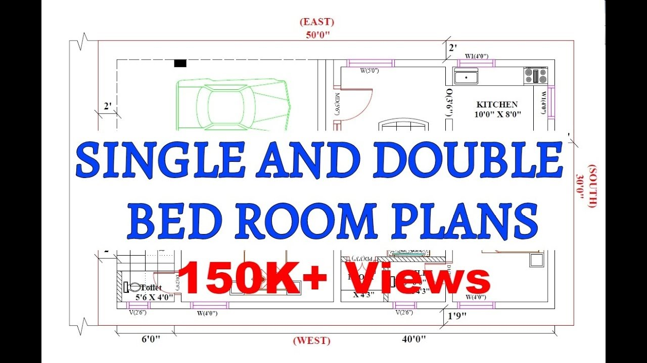 Vasthu Home Plans Single And Doule Bed Room Plans Youtube