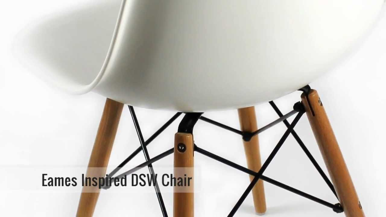 Furnisho   Eames Inspired DSW Eiffel Chair   Modern Classic Furniture  Reproduction   YouTube