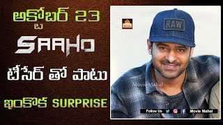 Prabhas Plans Double Surprise For Fans On His Birthday | Saaho - Movie Mahal