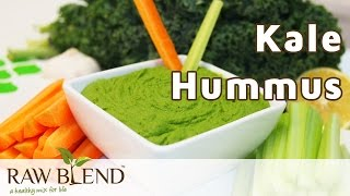 How To Make Kale Hummus In A Vitamix 5200 Blender By Raw Blend
