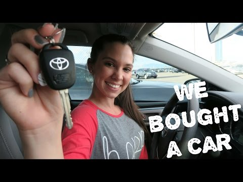 We bought a Toyota, New appliances +  shopping at IKEA!