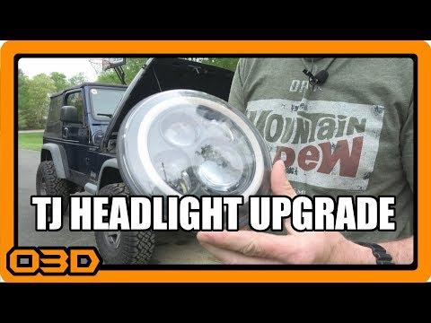 Project 2004 Jeep Wrangler TJ LED Headlight Install
