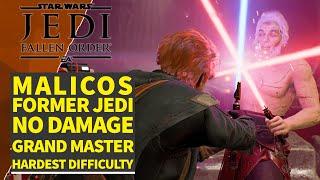Jedi vs former Jedi - Malicos No Damage (Jedi Grand Master Difficulty)- Star Wars Jedi: Fallen Order