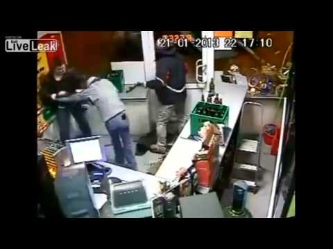Guy gets in two fights in the same Store