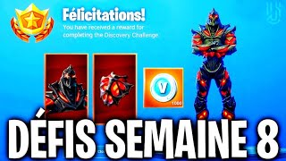 "🔴JE DEBLOQUE THE SKIN RUINE ON FORTNITE At 5pm! THANKS TO THE NEW CHALLENGES OF WEEK 8! ""BONUS!"