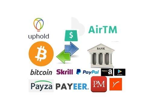 Transfer Money Bitcoin | PayPal | Payza |Skrill | Payoneer | Perfect Money | PAYEER |Amazon | Bank