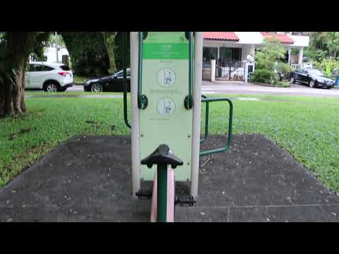 A Public Fitness Park In Singapore - Video Of Types Of Exercise Equipment
