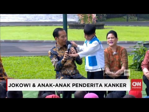 Anak Nekat, Berani Tepuk Bahu Presiden Joko Widodo; Anak Penderita Kanker dan Presiden Jokowi Piknik