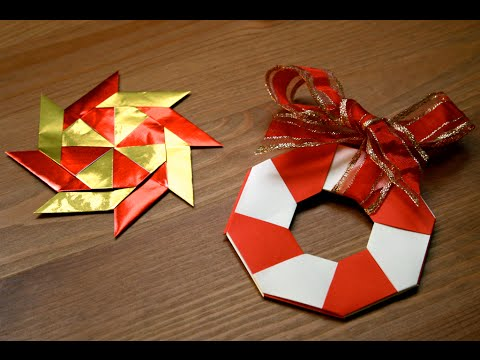 Origami d coration de no l l 39 toile magique senbazuru for Youtube decoration de noel