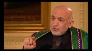 Afghanistan Discussion With U.K. Prime Minister Brown ,Afghan President Khazai and Students Pt2