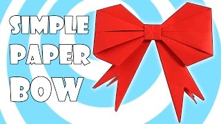 Origami Gift Bow / Ribbon ⧑ ( Easy Video Instructions)