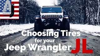 Choosing Tires for your Jeep Wrangler JL
