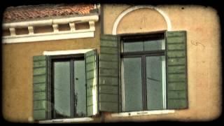 Stucco Window. Vintage stylized video clip.