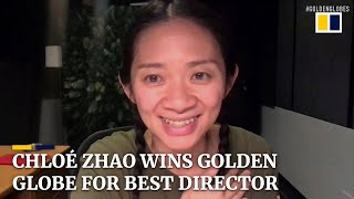 Chloé Zhao makes history as first Asian woman to win best director at Golden Globes