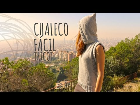 Tutorial Chaleco con Capucha Fácil Tricot o Dos Agujas from YouTube · Duration:  17 minutes 58 seconds