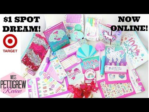 NEW ONLINE Target Dollar Spot Unicorn & Mermaid Stationery Planner Kits!