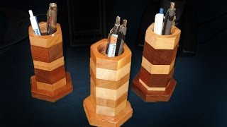 Make A Pen And Pencil Holder - Woodworking