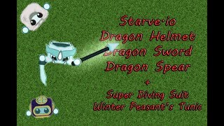 Starve Io Dragon Helmet Dragon Sword Dragon Spear