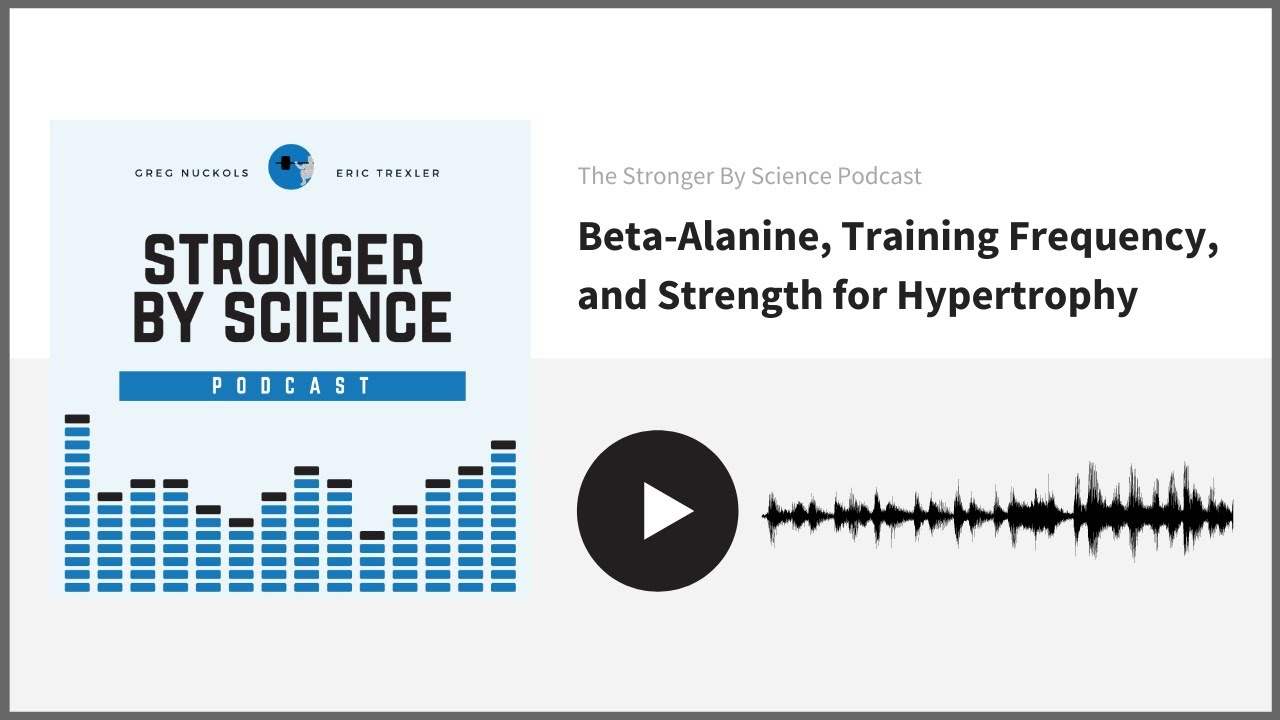Beta-Alanine, Training Frequency, and Strength for Hypertrophy (Episode 59)