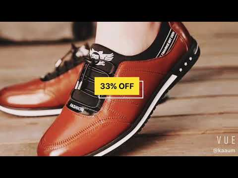 2018 Men's Fashion Casual Leather Shoes