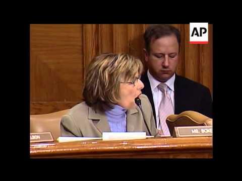California Senator Barbara Boxer and Secretary of State Condoleezza Rice got involved in an emotiona