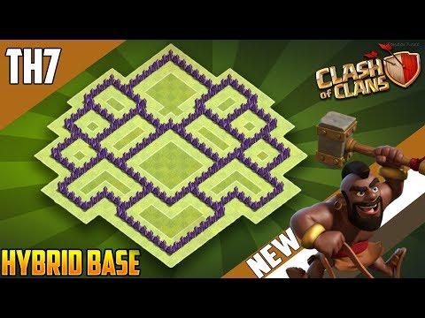 New BASE  TH7 HYBRID/TROPHY[defense] Base 2018!! COC Town Hall 7 Hybrid Base Design - Clash of Clans
