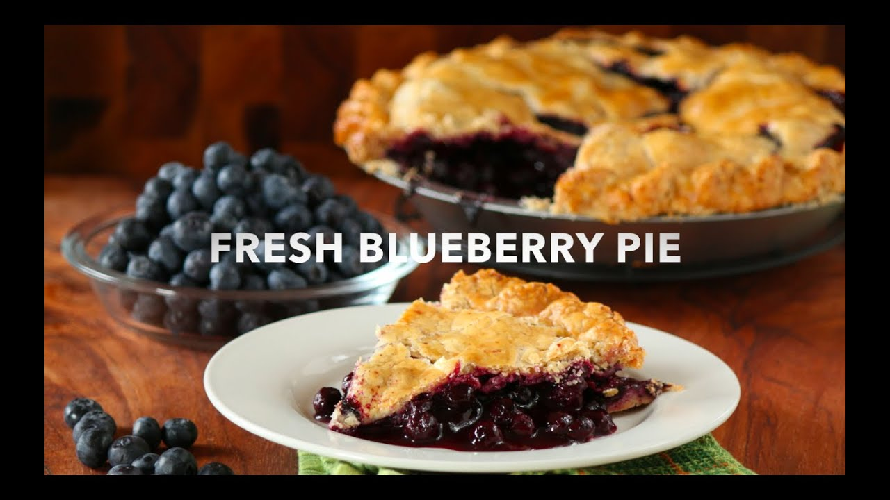 Fresh Blueberry Pie | with Lard & Butter Crust