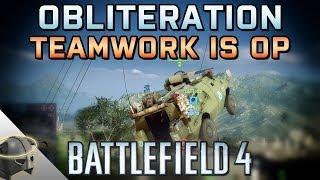 Battlefield 4 Obliteration Clutch Win: Teamwork is OP!