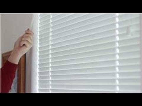 Window Blinds : How to Clean Horizontal Blinds While They're Still Hanging Up