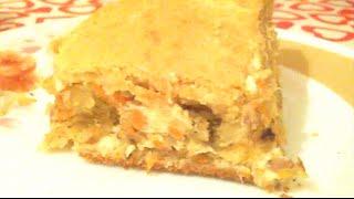 Рыбный пирог из консервы