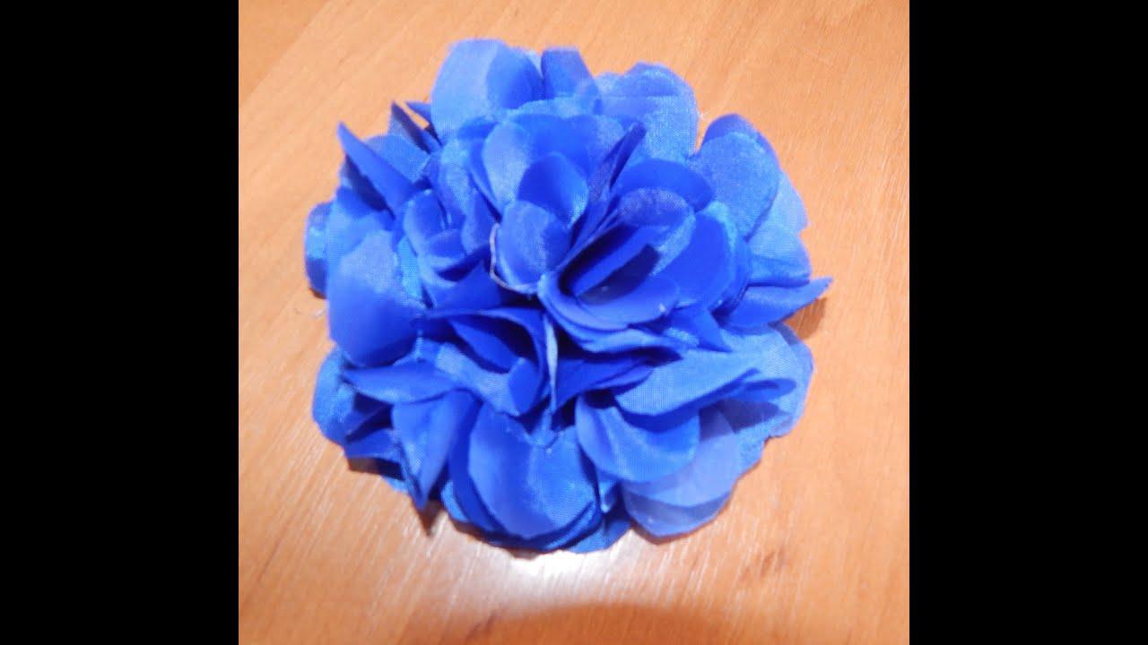 Как сделать цветок из материала своими руками
